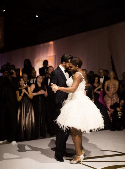 Un momento del ballo tra Serena Williams e Alexis