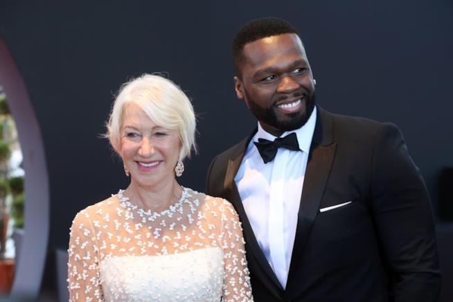 Primo piano di Helen Mirren e 50 Cent