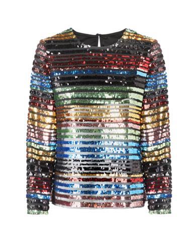 Pullover con le paillettes multicolore