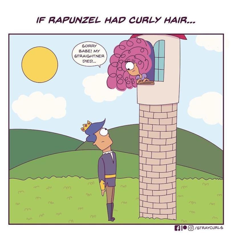 La vignetta di Angela Mary Vaz su Rapunzel