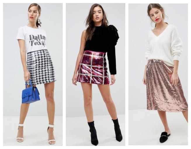 Gonne di paillettes tendenza moda autunno inverno 2018-19 9e7cceedc90
