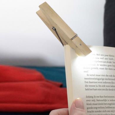 """Lampadina da lettura """"Molletta da bucato"""""""