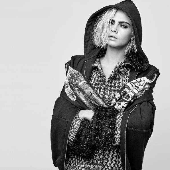 Cara Delevingne, il look per la campagna Chanel