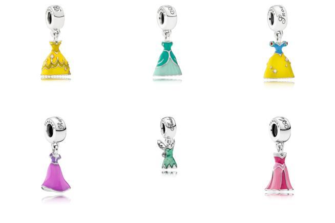 I Vestiti delle principesse Disney come charms di Pandora