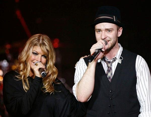 Fergie e Justin Timberlake in concerto