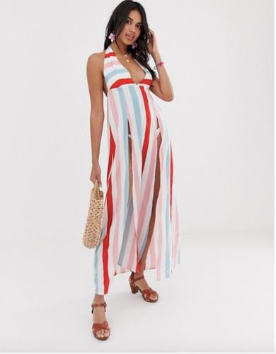 Maxi dress a righe