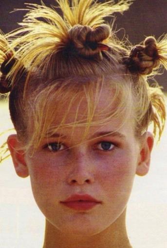 Claudia Schiffer da bambina