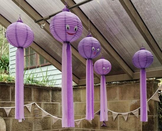 Lanterne da giardino dalla forma di simpatici polipi
