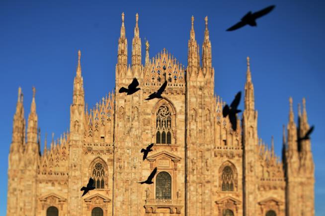 Il duomo di Milano.