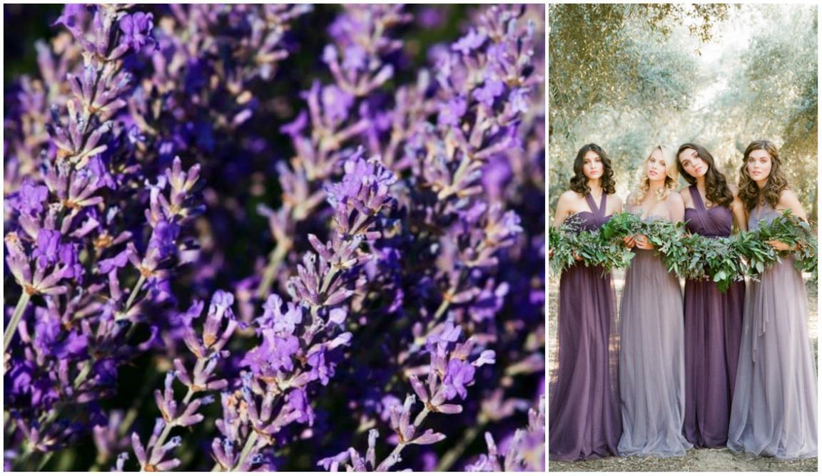 a7459fc623 Matrimonio color lavanda: abiti e accessori per le amiche della sposa