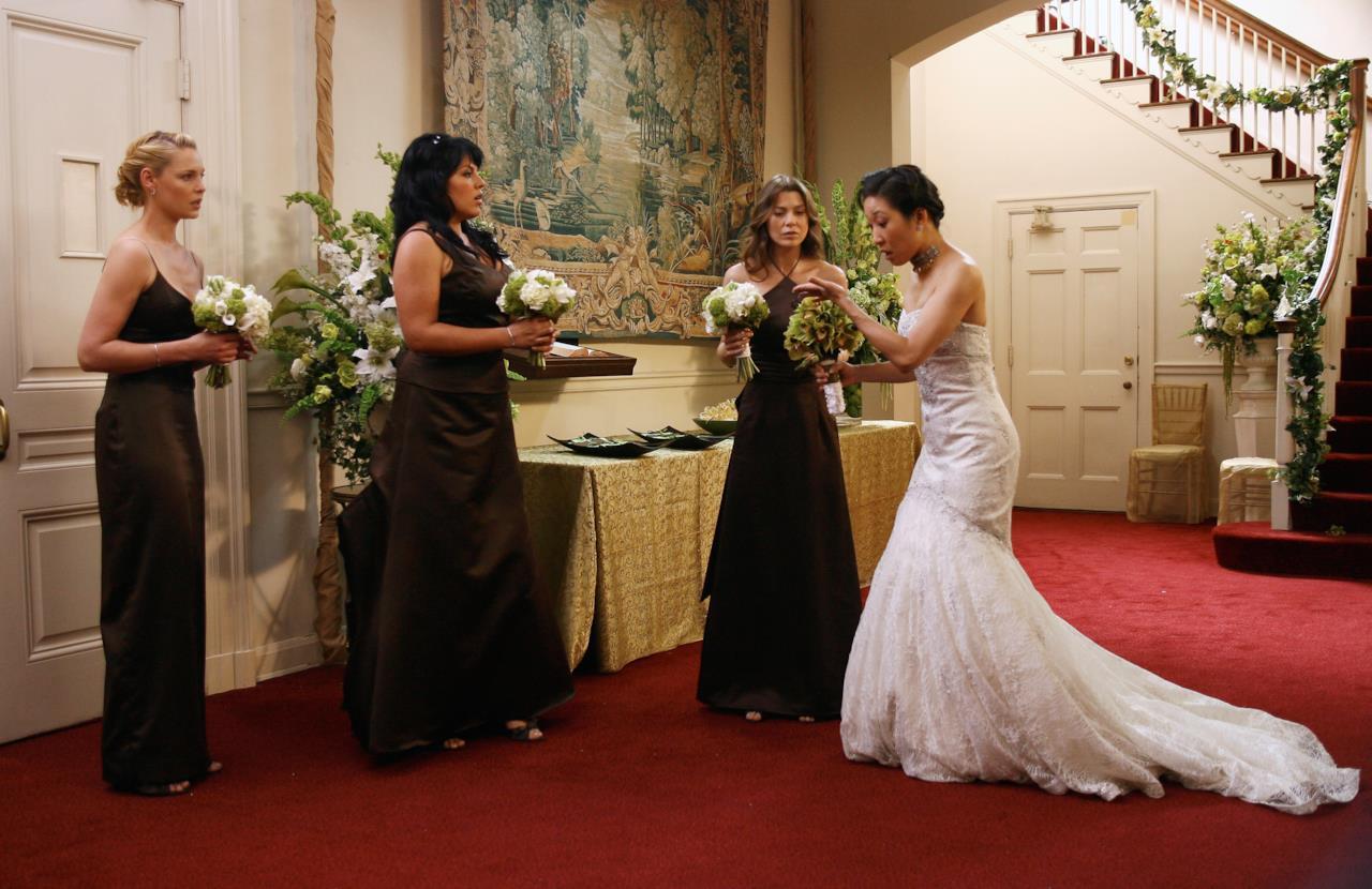 Izzie, Callie, Meredith e Cristina Yang vestita da sposa