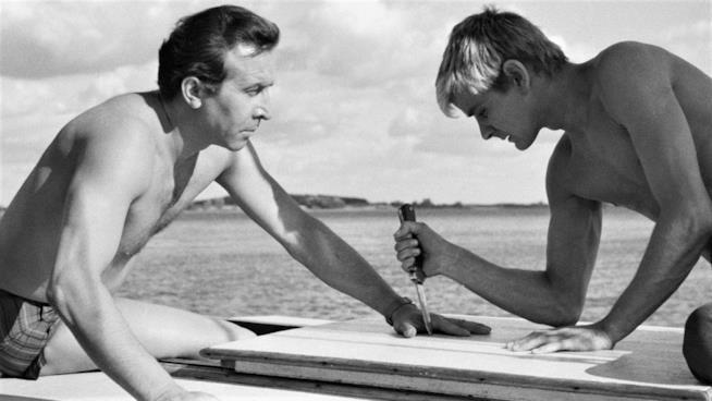 Dal film Il coltello nell'acqua che segnò il debutti di Roman Polanski
