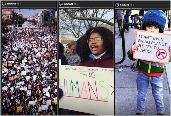 Bella Hadid a #MarchForOurLives
