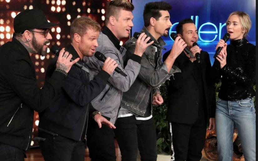Un momento dell'esibizione Blunt-Backstreet Boys