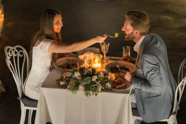 Cena romantica di pesce per San Valentino