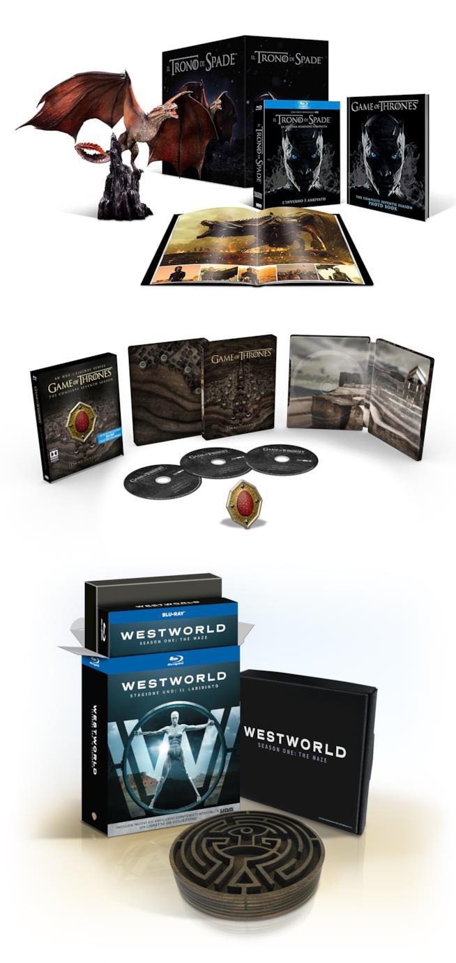 cofanetti speciali de il trono di spade e Westworld