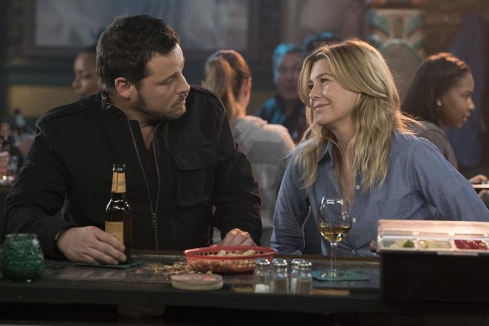 Un'immagine di Alex e Meredith in Grey's Anatomy