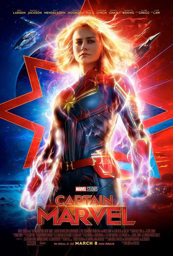 Il poster americano di Captain Marvel