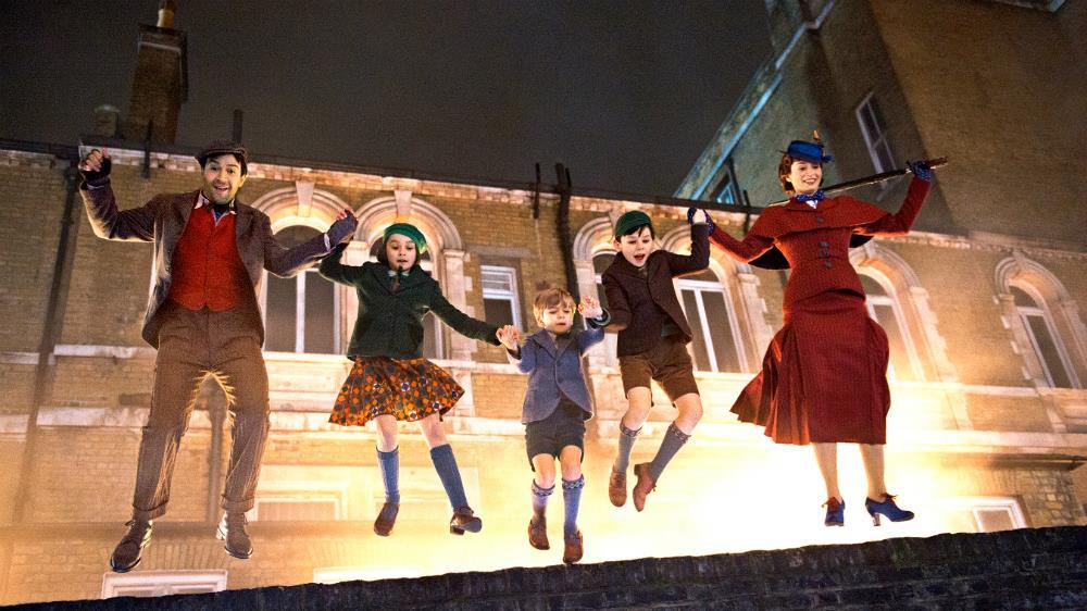 I bambini in compagnia di Mary Poppins