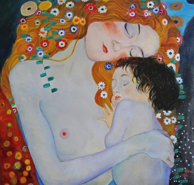 Particolare del quadro di Gustav Klimt Le tre età della donna