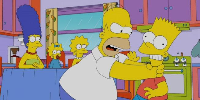 Una gag ricorrente in cui Homer strangola Bart