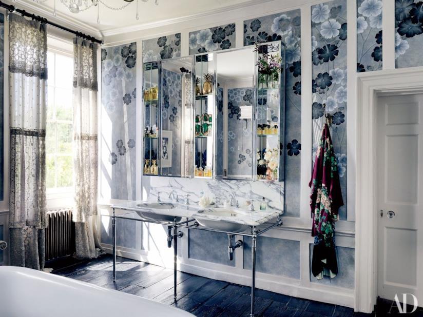 Kate Moss: la stanza da bagno nella casa di Londra