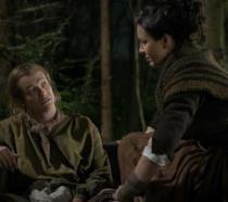 Una scena di Outlander 4x01 con Claire e Stephen Bonnet
