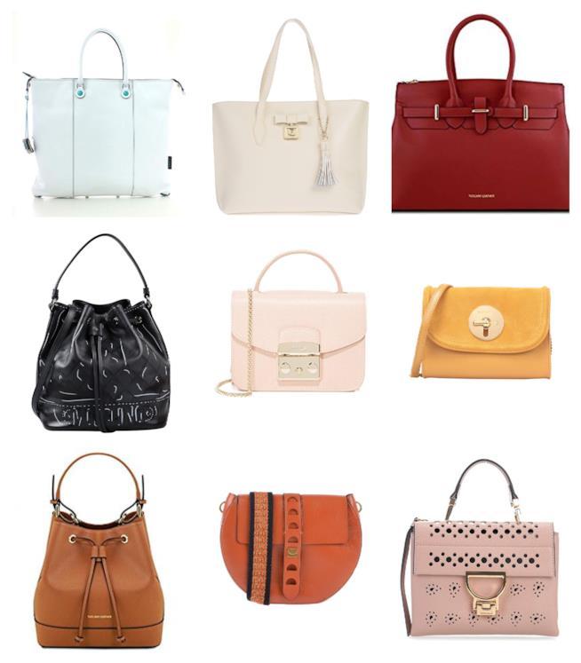 In pelle e color block le borse di tendenza per l'A/I 2018-2019