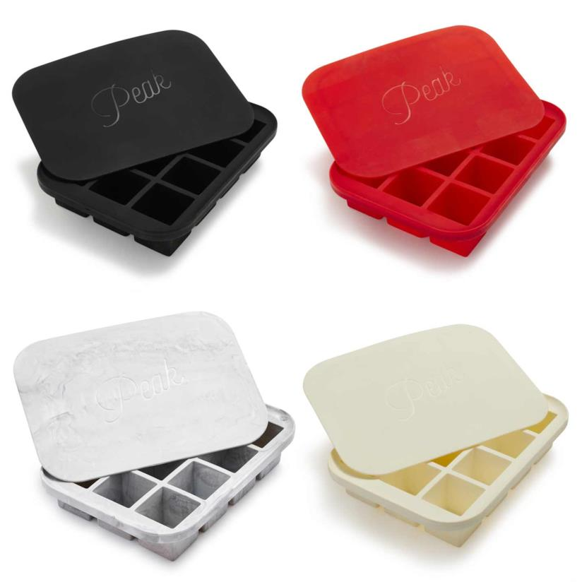I quattro colori del vassoio per ghiaccio Peak Ice Works Everyday Ice Cube Tray