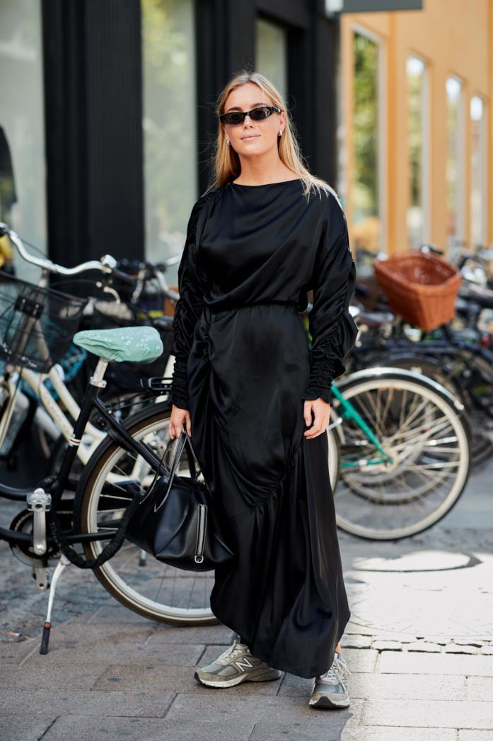 Maxi dress nero