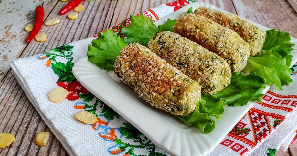 Crocchette di legumi e verdura con panatura di semi di sesamo