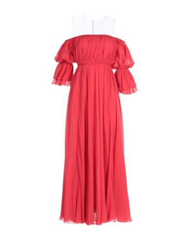 Vestito rosso in seta