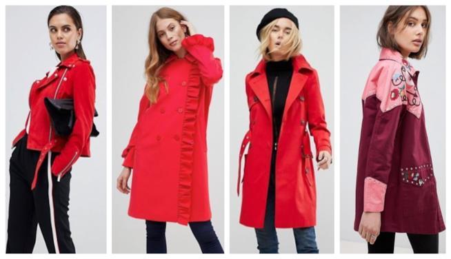 Capospalla rosso di moda autunno inverno 2018-19