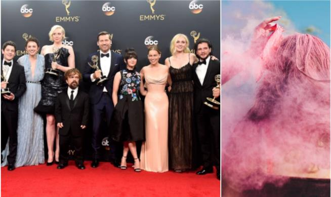 Capelli rosa e cast di Game of Thrones