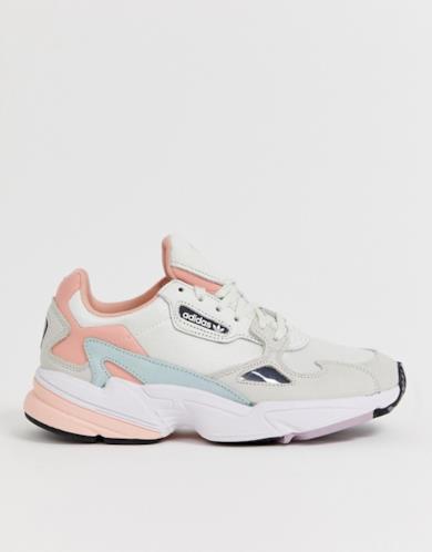 Sneakers Falcon bianche e rosa Trace