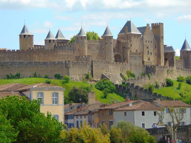 La città fortificata Carcassonne