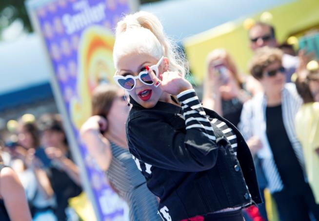 Un ammiccante Christina Aguilera