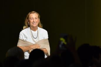Miuccia Prada in primo piano