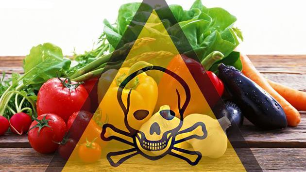 Verdura con il segno pericolo di morte