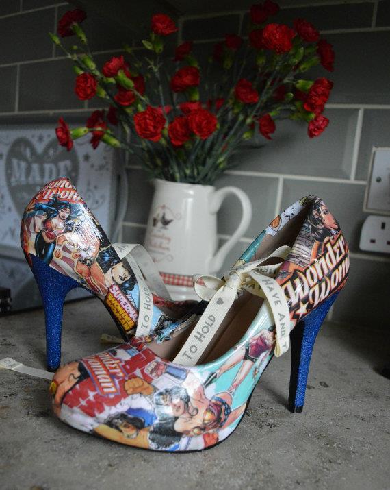 Scarpe col tacco Wonder Woman