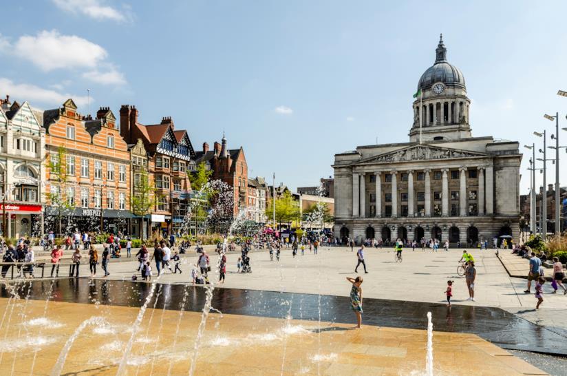 Market Square a Nottingham