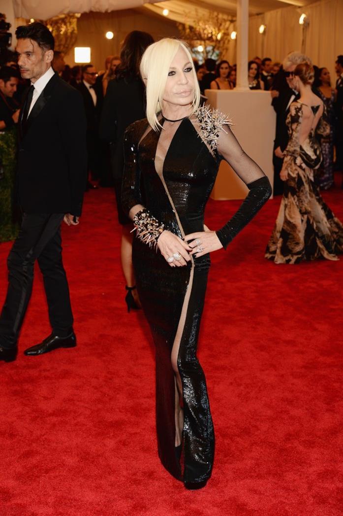 Donatella Versace in versione punk