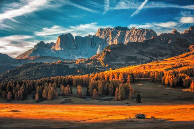 I colori autunnali tra le Dolomiti dell'Alto Adige