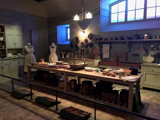 Il set della cucina di Downton Abbey