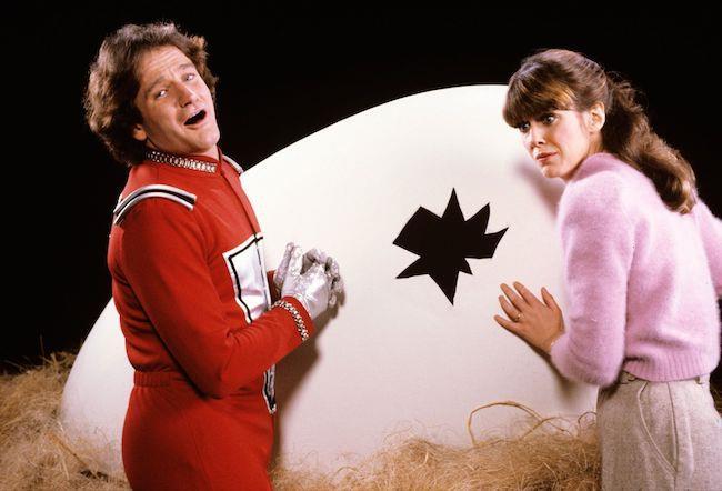 Robin Williams e Pam Dawber, protagonisti di Mork e Mindy