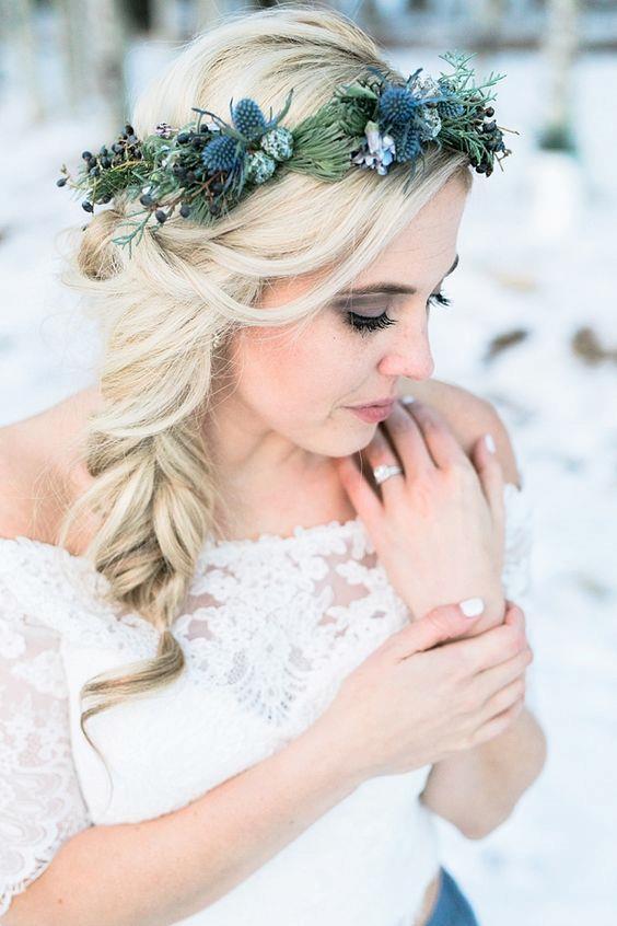 Acconciatura sposa inverno