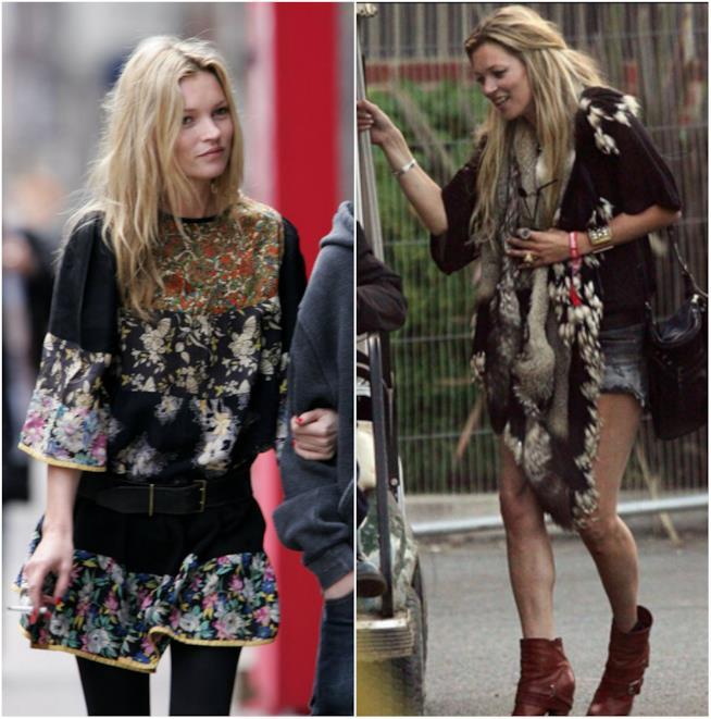 Kate Moss in stile boho chic