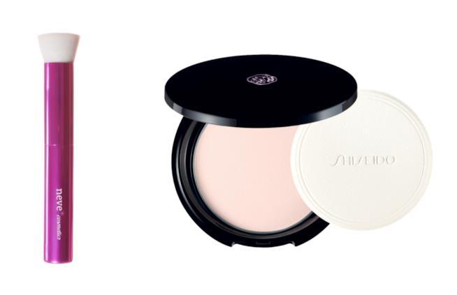 Azalea flat di NeveCosmetics e Translucent Pressed Powder di Shiseido