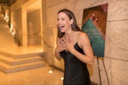 Jennifer Garner con un'espressione sorpresa