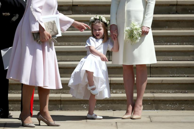 La piccola Charlotte al Royal Wedding